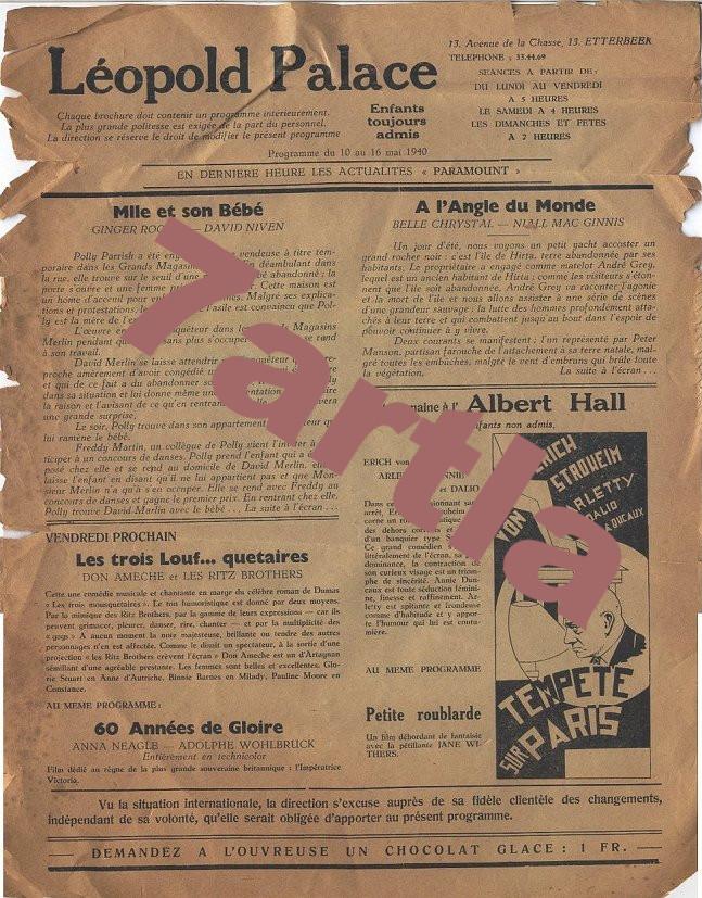 brochure programme 1940
