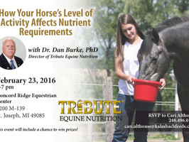 Tribute Feeds & Equine Nutrition Seminar featuring Dr. Dan Burke, Ph.D.