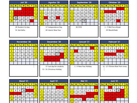Kalender Akademik Tahun Ajaran 2020/2021