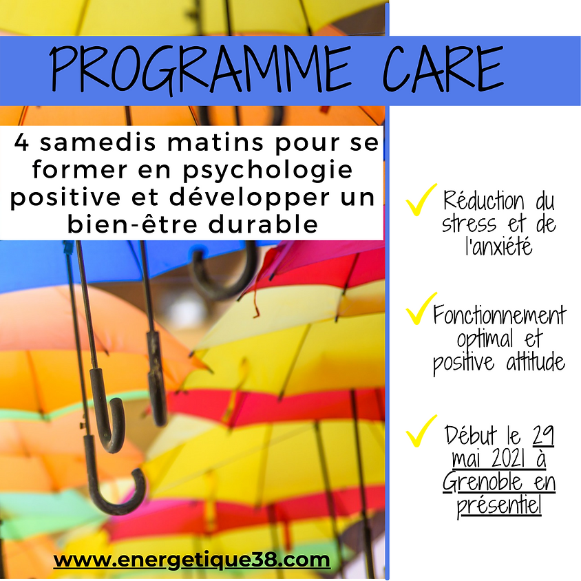 Programme CARE SAMEDI à GRENOBLE - Session de MAI-JUILLET 2021