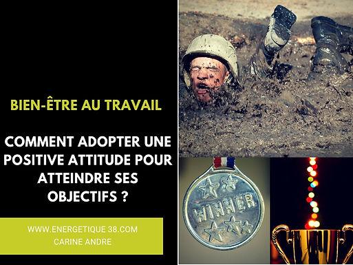 Positive attitude au travail Carine André Energétique 38