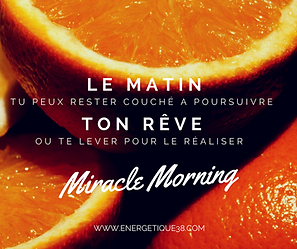 Miracle Morning Carine André - Energétique38