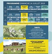 Programme Festival Bien-Etre 2019 Chamrousse
