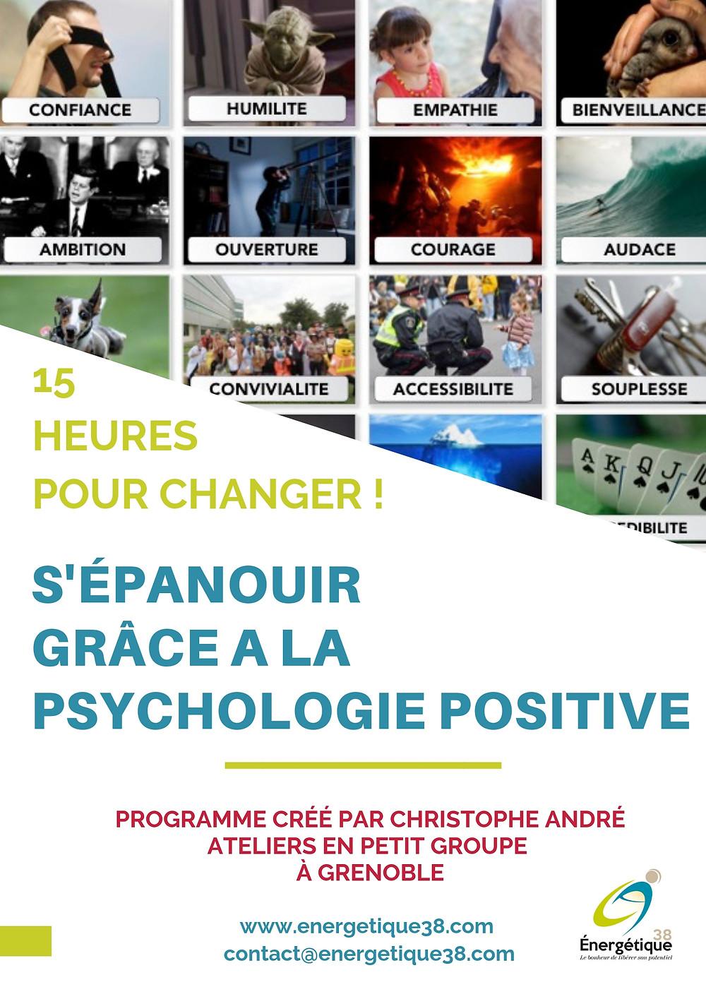 programme CARE en psychologie positive ; Grenoble ; développer son bonheur