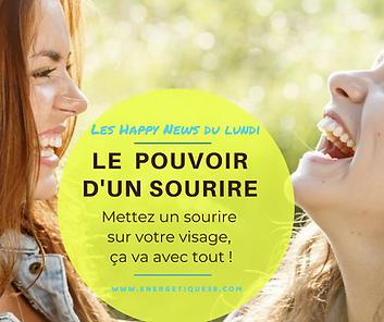 Pouvoir d'un sourire ; Energétique 38 ; Psychologie Positive ; bien-être