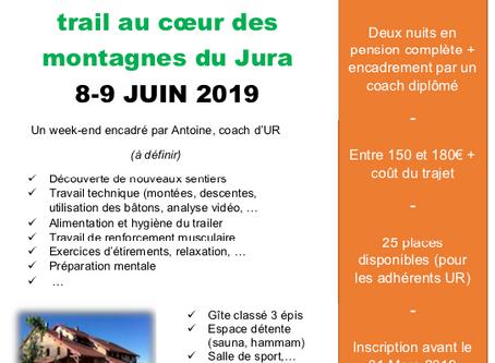 WEEK-END ENTRAINEMENT TRAIL LES 7-8-9 JUIN 2019 / Montagne du JURA