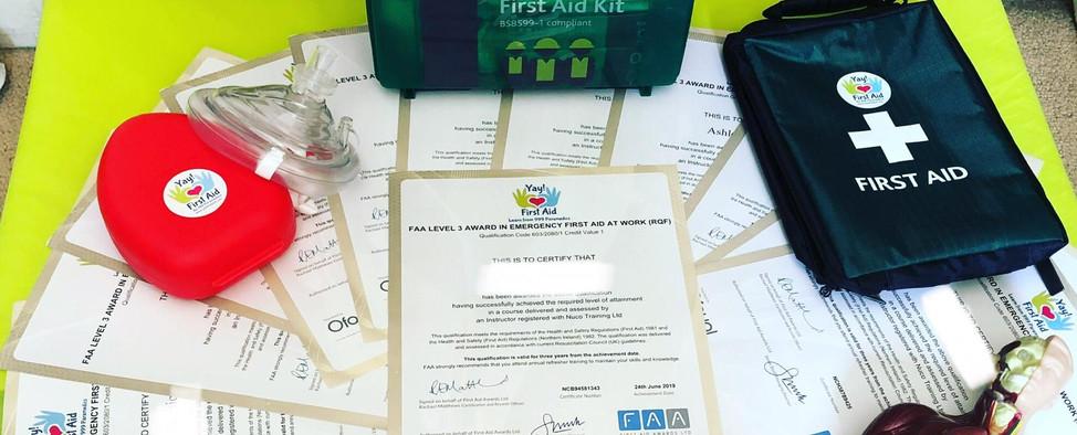 Kit de aula de primeiros socorros