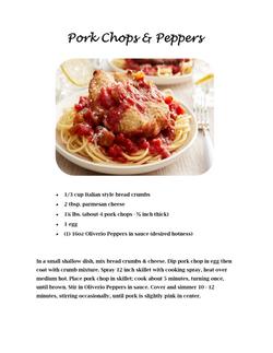 Pork Chop & Peppers