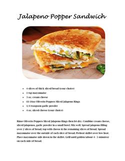 Jalapeno Popper Sandwich