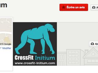 CrossFit Initium est maintenant référencé sur Yelp