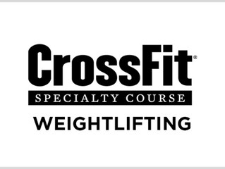 CrossFit Weightlifting Specialty Course