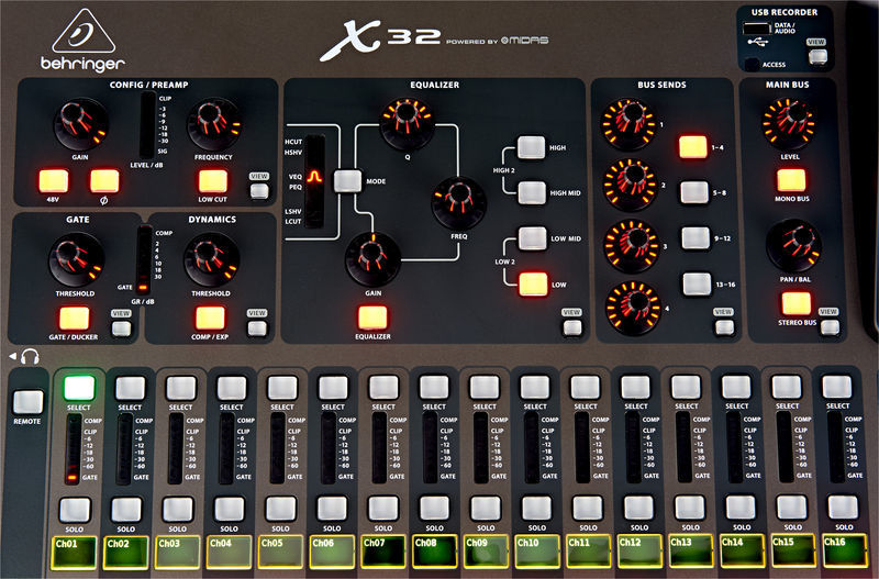 BEHRINGER X 32 LOCATION PARIS 9