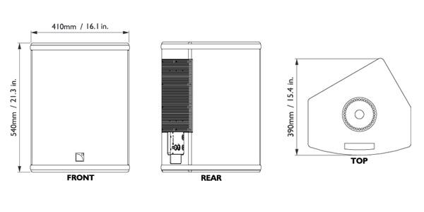 Plan Technique L-Acoustics 112P
