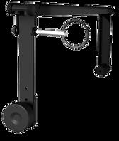 L'étrier L-ACOUSTICS® ETR8-2 s'adapte aux pièces d'accrochage d'une enceinte L-ACOUSTICS® 8XT ou 108P. Il peut être fixé à un mur ou suspendu à une structure ou un plafond (typiquement pour une utilisation sous-balcon).