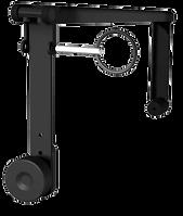 L'étrier L-ACOUSTICS® ETR12 s'adapte aux pièces d'accrochage d'une enceinte L-ACOUSTICS® 12XT ou 112P. Il peut être fixé à un mur ou suspendu à une structure ou un plafond (typiquement pour une utilisation sous-balcon).
