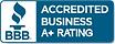 Accredited A+ Rating with BBB