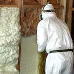 spray foam installation, Open Cell Foam, Insulation install