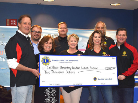 Excelsior Lions Club pays off school lunches