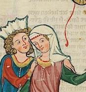 La tenue d'une dame du XIVème siècle