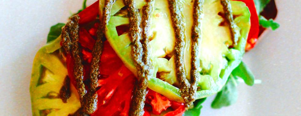 Probiotic Toast w/ local heirloom tomatoes