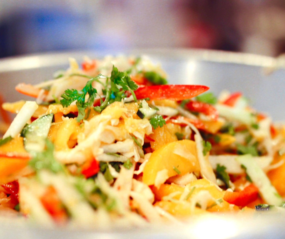 Seasonal Mango Slaw