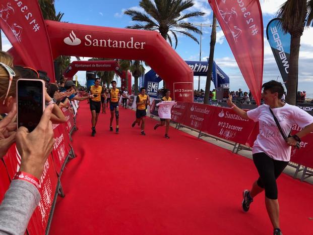 Triatlon de Barcelona 2018 Llegada