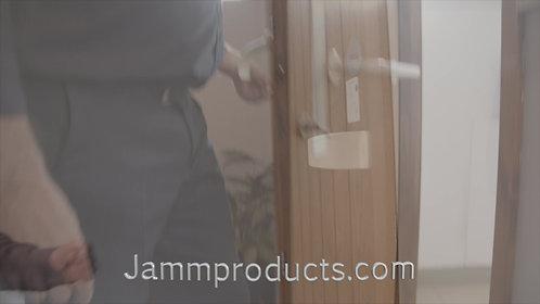 Hands-free door handle.