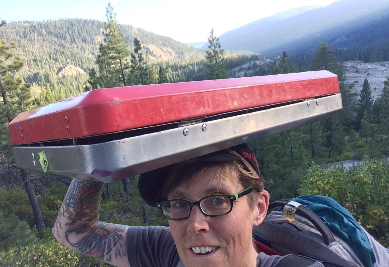 Zeph carried a stove!