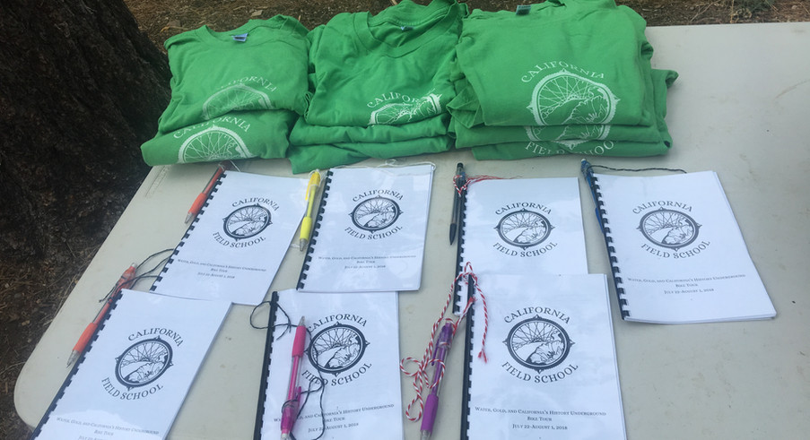 Participant manuals and t-shirts.