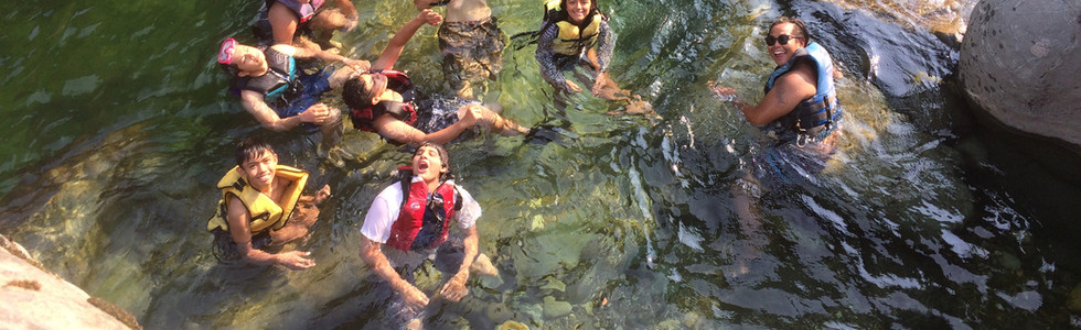 Swimming in the Yuba River.