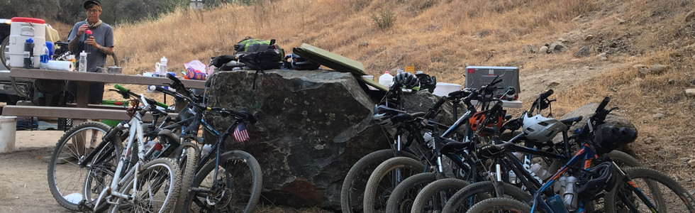 This is how our bike slept.