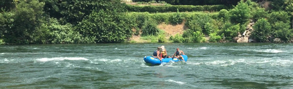 Our last day we went rafting on the American River.