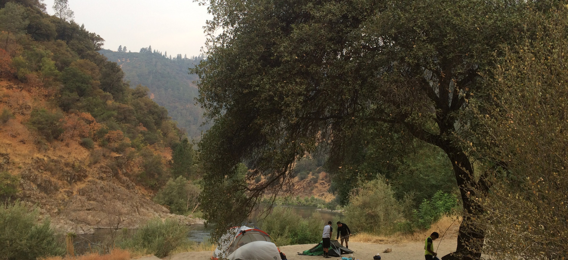 Our favorite campsite on the American River.