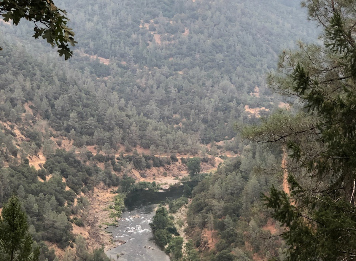 The American River.