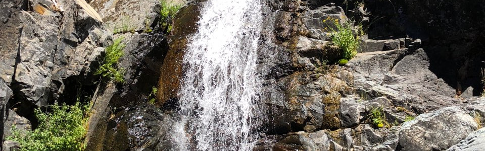 Waterfall on the way to Bowman Lake.
