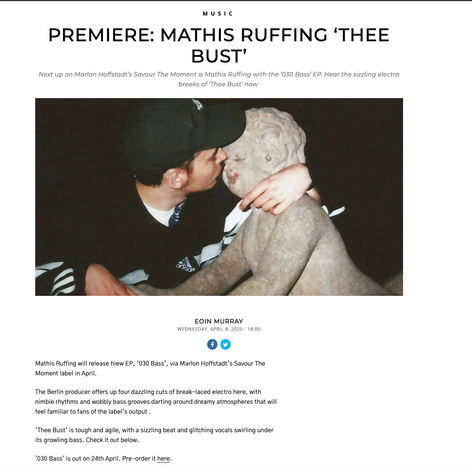 Premiere: Mathis Ruffing `THEE BUST`
