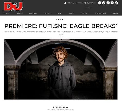 DJ Mag premiere of Fufi.SNC 'Eagle Breaks'