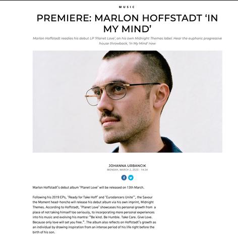 Premiere: Marlon Hoffstadt - In My Mind