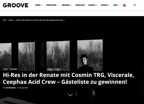 Groove Article of Hi-Res party series at Renate
