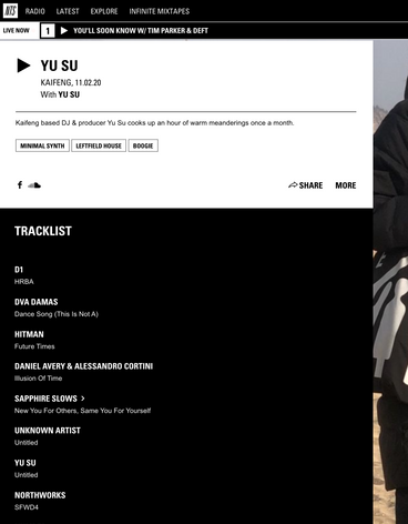"YU SU played at NTS Radio ""SFWD4"" - Northworks (SAVOUR002)"