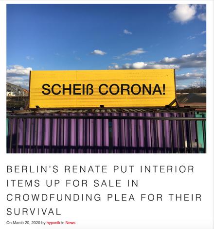 Hyponik over Renates Crowdfunding Plea