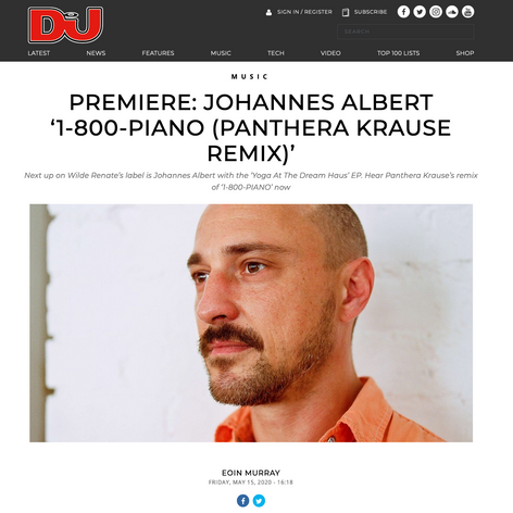 Premiere: Johannes Albert - 1-800-PIANO (Panthera Krause Remix) via DJ MAG