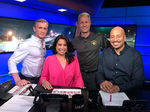 Angeline on the set of LIVE PD