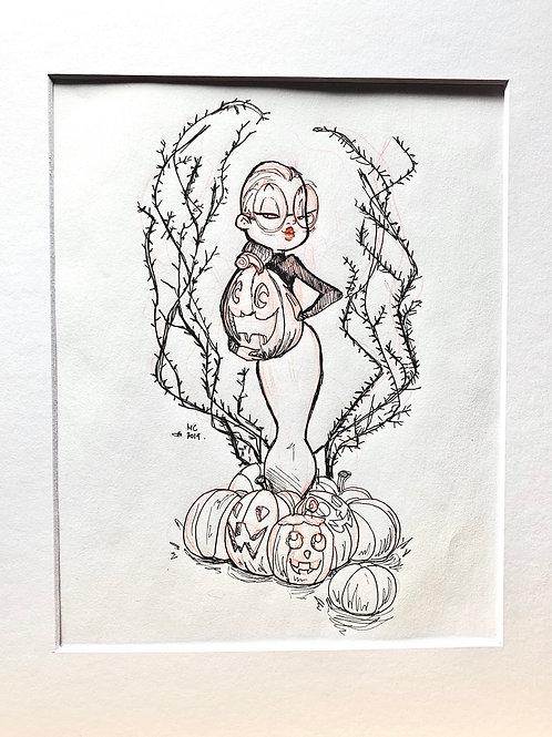 INKTOBER WITCH O1 Sketch