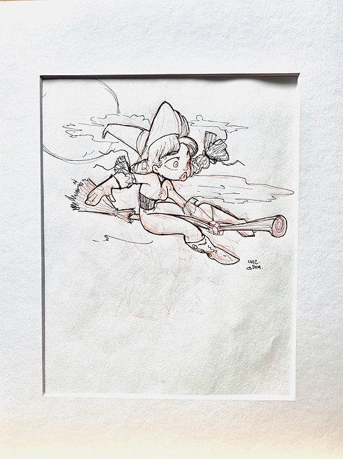 INKTOBER WITCH 2 sketch