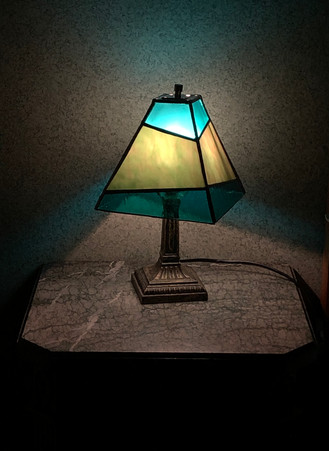 Green Mission Lamp