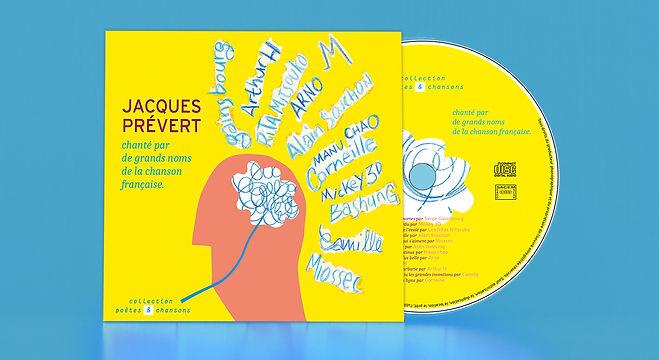 pochette de CD Jacques Prévert