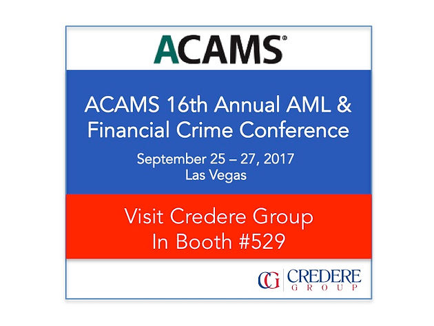 Come see Credere Group at ACAMS Las Vegas!