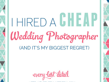 Good wedding photography isn't cheap.     Cheap wedding photography isn't good.