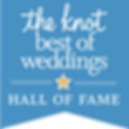 The Knot best of weddings hall of fame award given to Cincinnati best most affordable wedding photographer Tammy Bryan